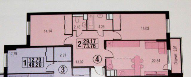 Продажа двухкомнатной квартиры поселок городского типа Октябрьский, метро Кузьминки, улица Ленина 25, цена 5800000 рублей, 2021 год объявление №2387 на megabaz.ru