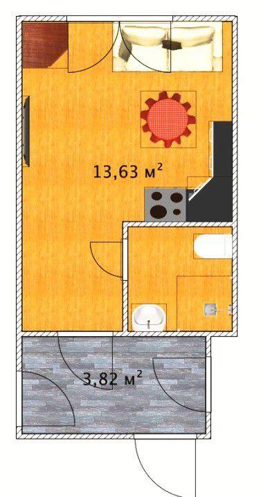 Продажа однокомнатной квартиры Москва, метро Курская, Яковоапостольский переулок 17, цена 4700000 рублей, 2021 год объявление №103642 на megabaz.ru
