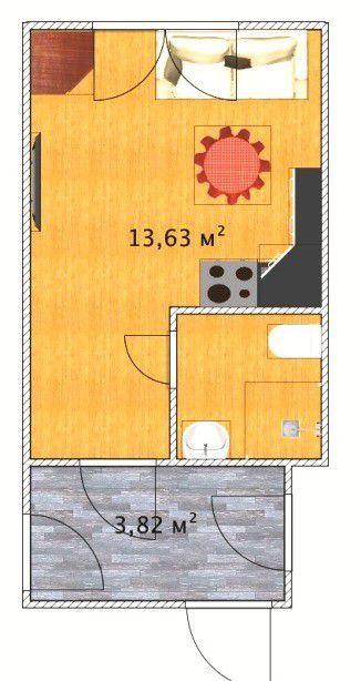 Продажа однокомнатной квартиры поселок ЛМС, метро Курская, цена 3950000 рублей, 2021 год объявление №104335 на megabaz.ru