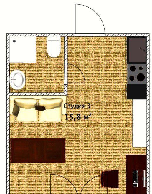 Продажа однокомнатной квартиры Москва, метро Курская, Яковоапостольский переулок 17, цена 3460000 рублей, 2021 год объявление №124285 на megabaz.ru