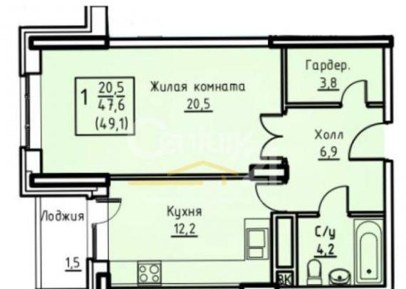 Продажа однокомнатной квартиры поселок совхоза имени Ленина, метро Домодедовская, цена 5500000 рублей, 2021 год объявление №135452 на megabaz.ru
