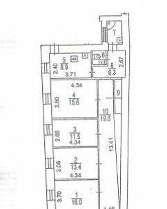 Продажа трёхкомнатной квартиры Москва, метро Кузнецкий мост, Варсонофьевский переулок, цена 42484000 рублей, 2020 год объявление №210784 на megabaz.ru