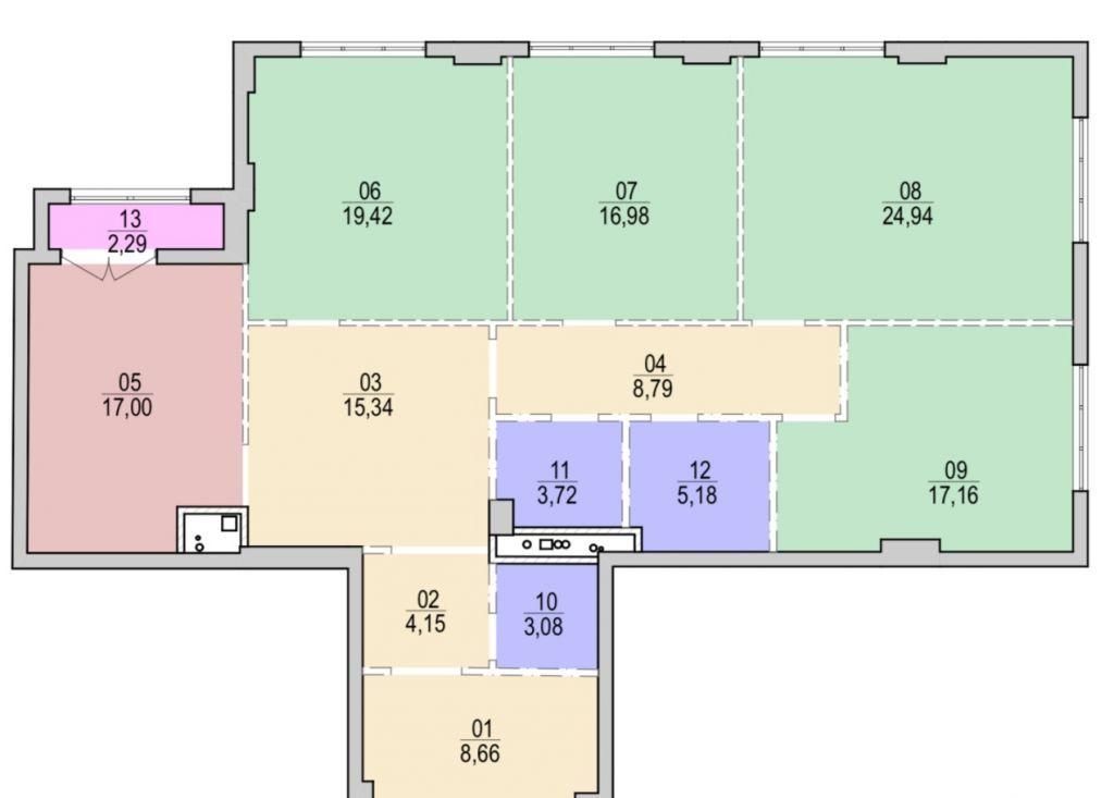 Продажа четырёхкомнатной квартиры Москва, метро Новослободская, улица Фадеева 4А, цена 88400000 рублей, 2021 год объявление №237206 на megabaz.ru