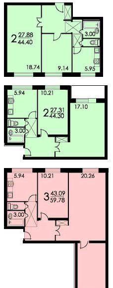 Продажа двухкомнатной квартиры Москва, метро Каширская, Пролетарский проспект 4, цена 7000050 рублей, 2021 год объявление №237976 на megabaz.ru