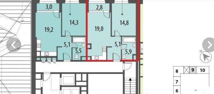 Продажа однокомнатной квартиры Москва, метро Фили, цена 12250000 рублей, 2021 год объявление №245863 на megabaz.ru