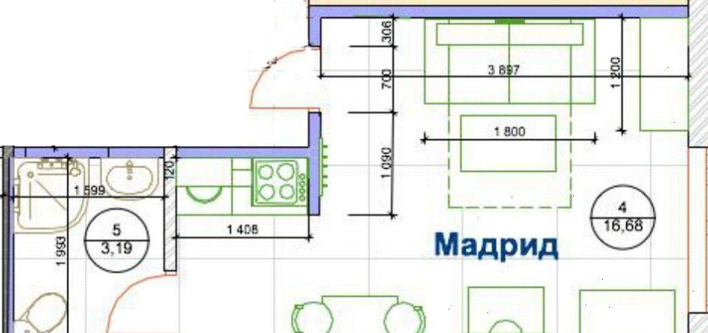 Продажа студии поселок городского типа Красково, метро Выхино, цена 1690000 рублей, 2020 год объявление №95695 на megabaz.ru