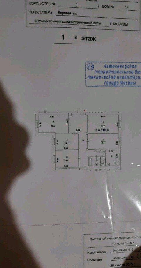 Продажа комнаты Москва, метро Электрозаводская, Боровая улица 14, цена 2250000 рублей, 2021 год объявление №248598 на megabaz.ru