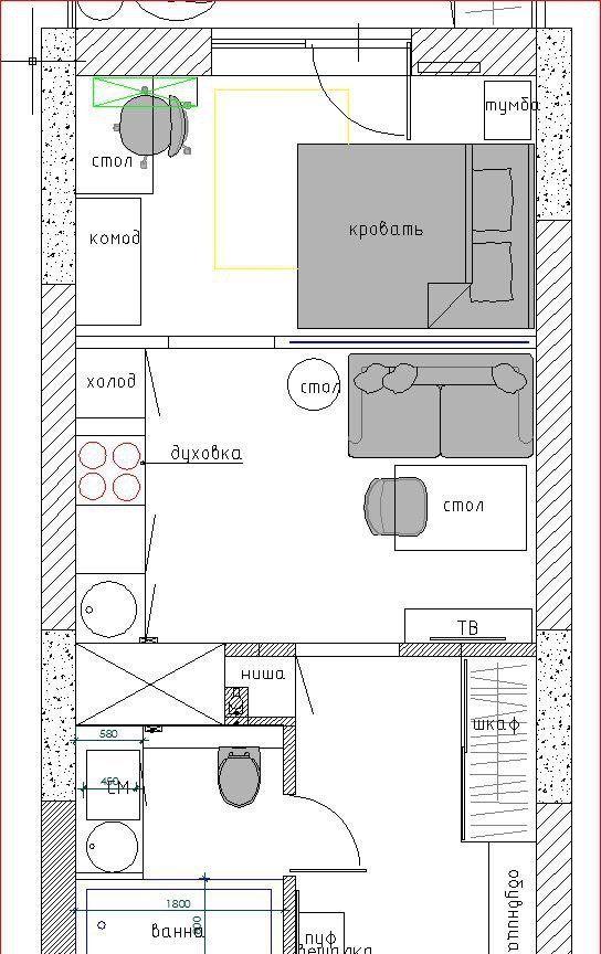 Купить однокомнатную квартиру в Москве у метро Площадь Революции - megabaz.ru
