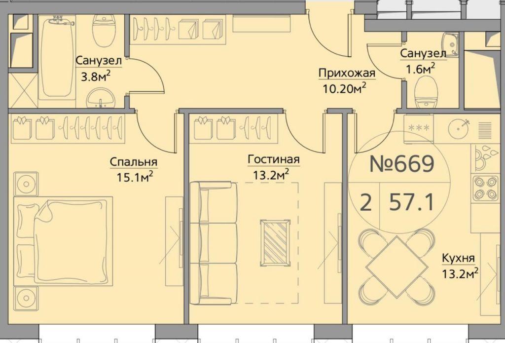 Продажа двухкомнатной квартиры Москва, метро Фили, Багратионовский проезд 3, цена 14000000 рублей, 2021 год объявление №257348 на megabaz.ru
