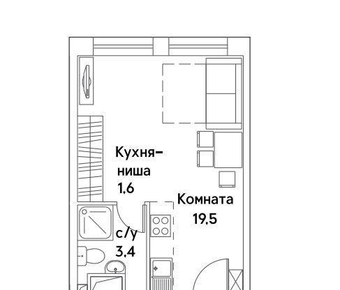 Купить студию в Москве у метро Шипиловская - megabaz.ru