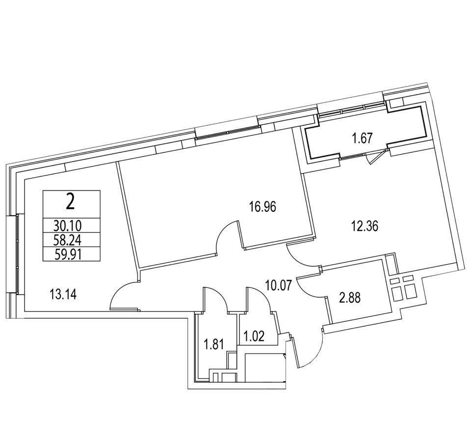 Купить двухкомнатную квартиру в Москве у метро Тульская - megabaz.ru