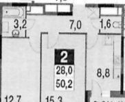 Аренда двухкомнатной квартиры деревня Бородино, Малая Бородинская улица 1к2, цена 41900 рублей, 2021 год объявление №918259 на megabaz.ru
