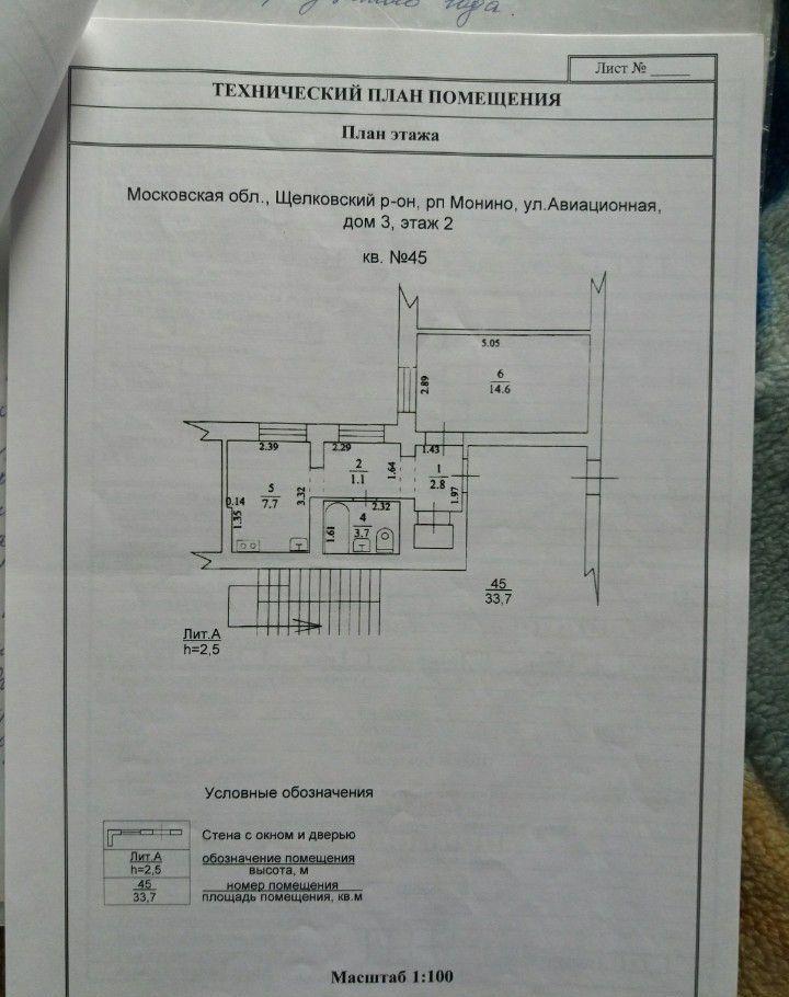 Продажа однокомнатной квартиры поселок городского типа Монино, Авиационная улица 3, цена 1700000 рублей, 2021 год объявление №306399 на megabaz.ru
