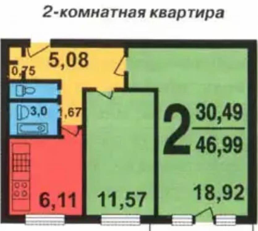 Продажа двухкомнатной квартиры Москва, метро Каширская, улица Академика Миллионщикова 13к1, цена 8950000 рублей, 2021 год объявление №310163 на megabaz.ru