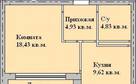 Продажа однокомнатной квартиры поселок городского типа Загорянский, цена 2600000 рублей, 2021 год объявление №310423 на megabaz.ru