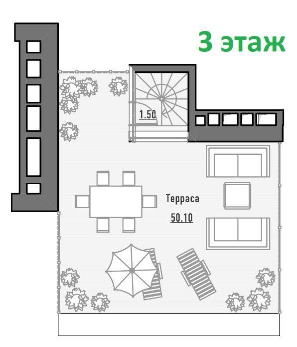 Продажа комнаты Москва, метро Савеловская, улица Нижняя Масловка 8, цена 43550000 рублей, 2021 год объявление №317752 на megabaz.ru