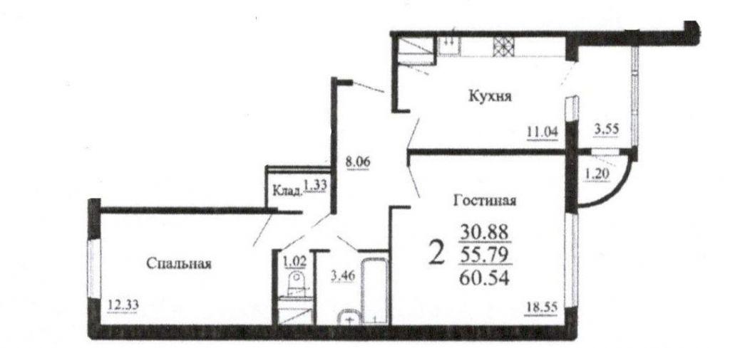 Продажа двухкомнатной квартиры посёлок городского типа Родники, Трудовая улица 7, цена 3900000 рублей, 2021 год объявление №325527 на megabaz.ru