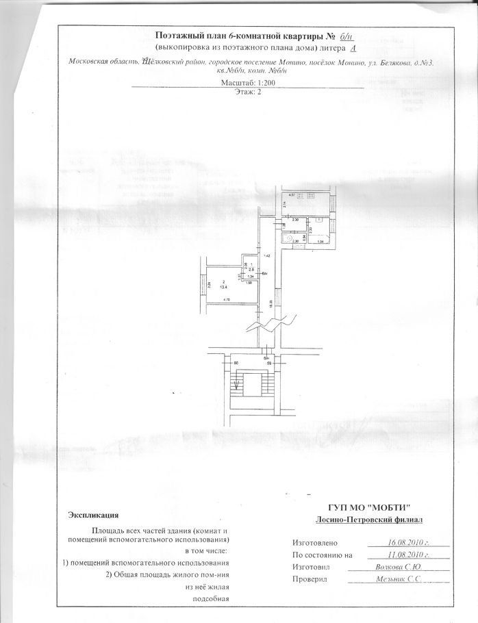 Продажа комнаты поселок городского типа Монино, улица Генерала Белякова 3, цена 900000 рублей, 2021 год объявление №326612 на megabaz.ru