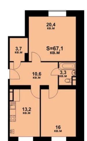 Продажа двухкомнатной квартиры село Озерецкое, бульвар Радости 26, цена 4700000 рублей, 2021 год объявление №330400 на megabaz.ru