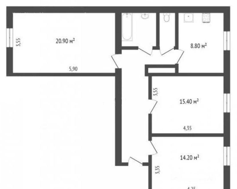 Продажа трёхкомнатной квартиры Москва, метро Кожуховская, улица Петра Романова 14, цена 12490000 рублей, 2020 год объявление №331611 на megabaz.ru