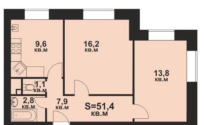 Продажа двухкомнатной квартиры село Озерецкое, бульвар Радости 26, цена 4200000 рублей, 2021 год объявление №334471 на megabaz.ru