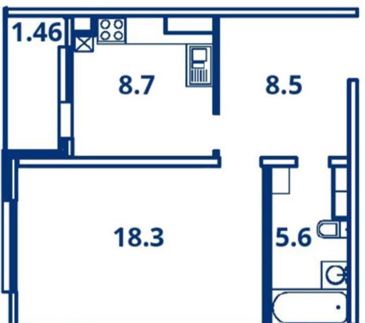 Продажа однокомнатной квартиры деревня Чёрная, Садовая улица 16к2, цена 4521930 рублей, 2021 год объявление №342206 на megabaz.ru