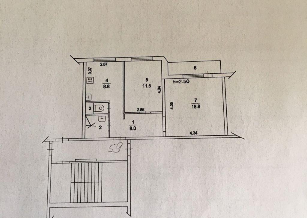 Продажа двухкомнатной квартиры Кубинка, Армейская улица 11, цена 3400000 рублей, 2021 год объявление №342128 на megabaz.ru
