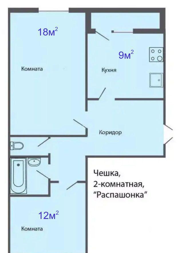 Продажа двухкомнатной квартиры село Речицы, Совхозная улица 18, цена 2700000 рублей, 2021 год объявление №344803 на megabaz.ru