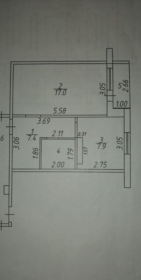 Продажа однокомнатной квартиры поселок городского типа Икша, Рабочая улица 27, цена 3100000 рублей, 2021 год объявление №346530 на megabaz.ru