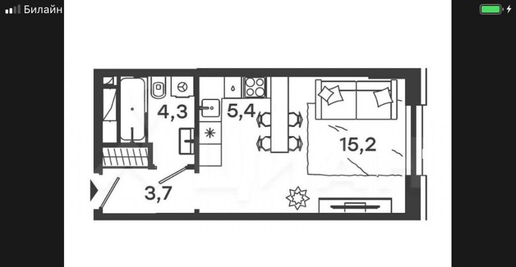 Продажа студии Москва, метро Серпуховская, Дубининская улица 59с4, цена 7500000 рублей, 2020 год объявление №348508 на megabaz.ru