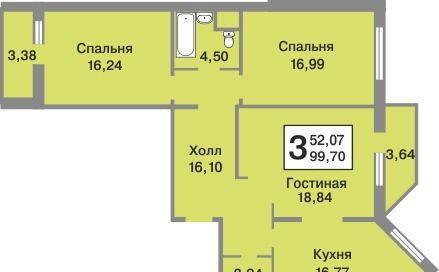 Купить трёхкомнатную квартиру в Деревне тарычёво - megabaz.ru