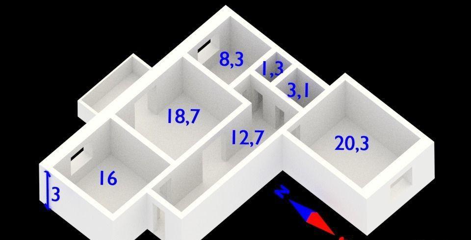 Продажа трёхкомнатной квартиры Москва, метро Полянка, Киевская улица 24, цена 25000000 рублей, 2021 год объявление №40018 на megabaz.ru